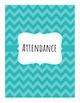 Chevron Attendance Book - 8 Class Periods