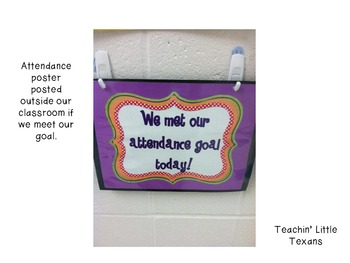 Attendance Goal Tracking Poster and Letters