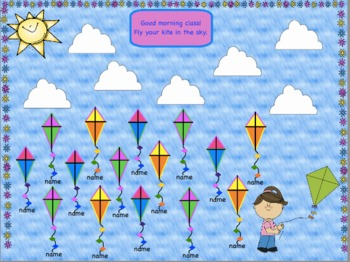 Attendance Kite Interactive Flipchart Promethean Board