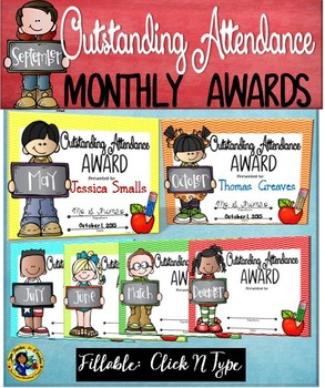 Attendance Monthly Awards ~ KIDS