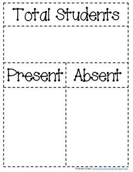 Attendance Part/Part/Whole Chart and Ten Frames