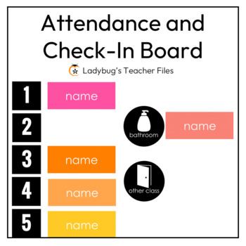 Attendance and Check-In Board