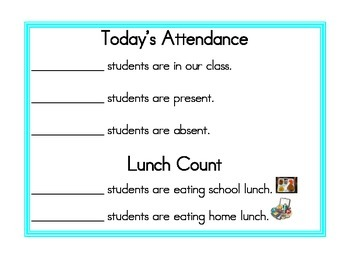 Attendance and Lunch