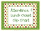 Attendance and Lunch Count Clip Chart - Apple Theme