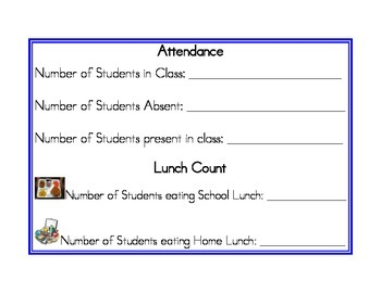 Attendance and Lunch (blue)