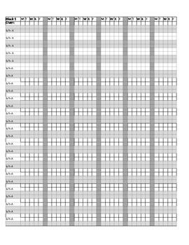 Attendance/Behavior/Homework Spreadsheet