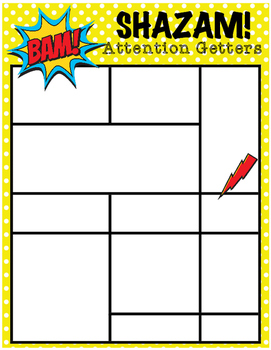 Attention Getters Super Hero EDITABLE