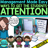 Attention Getters : Attention Getting Classroom Management