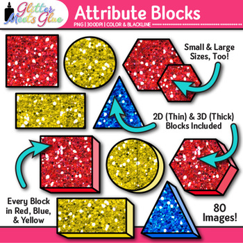 Attribute Blocks Clip Art {Counting and Sorting Manipulati
