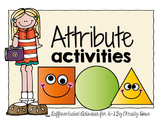 Attribute Blocks - Enrichment Activities for K-2