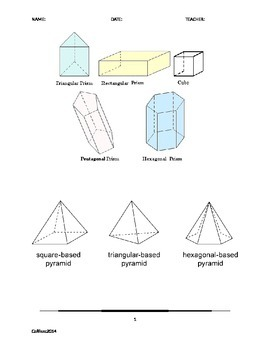 Attributes of Prisms and Pyramids