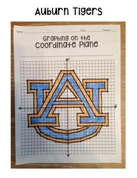 Auburn Tigers (Coordinate Graphing Activity)