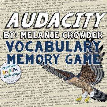 Audacity by Melanie Crowder -- Vocabulary Memory Game