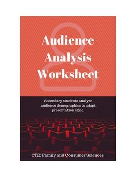 Audience Analysis Worksheet
