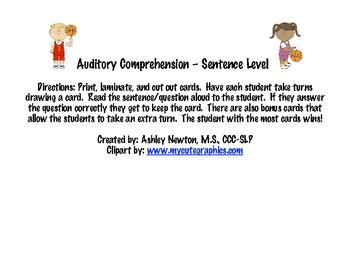 Auditory Comprehension - Sentence Level - Basketball