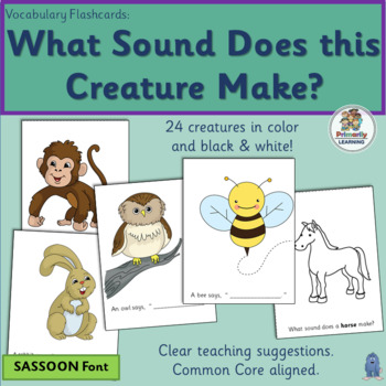 Auditory Discrimination ~ What Sound Does this Animal Make