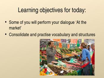 Auf dem Markt - student role play presentation