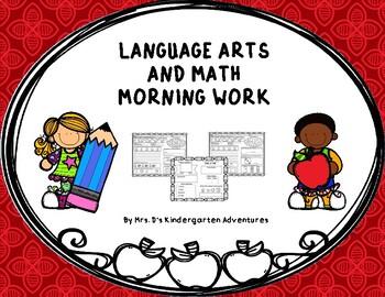 Language Arts and Math Morning Work