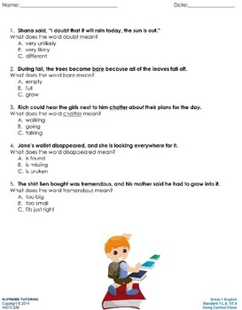 Augmented Reality 1st Grade English - Using Context Clues