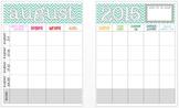 August 2015 Editable Curriculum Planning Calendar