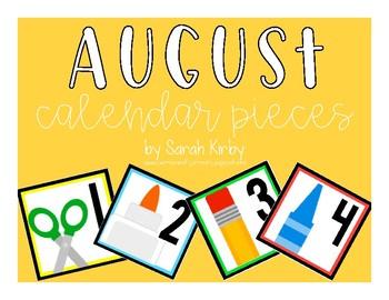 August Calendar Pieces