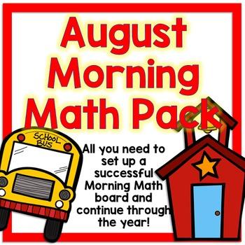 August Calendar and Morning Math - White Set