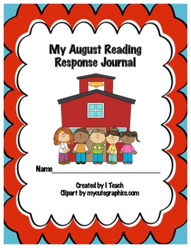 Common Core August Reading Response Journal