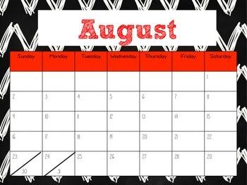 August - December 2015 Calendar