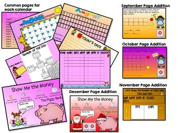 August-December Promeathean Board Calendars (Bundled Set)