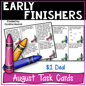 Early Finishers! August! {$1 Deal}