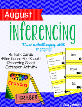 August Inferencing Task Cards
