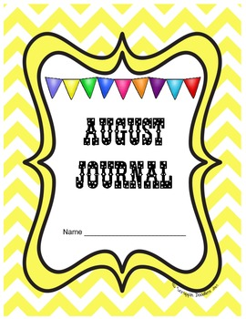 August Journal Prompts Printable Notebook Common Core W.1,