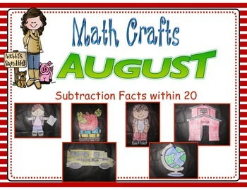 August Math Crafts Subtraction Facts within 20
