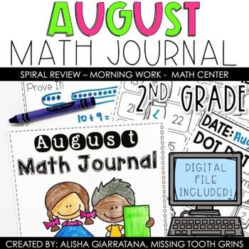 Math Journal August (2nd Grade)