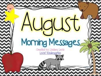 August- Morning Messages Bundle