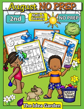 August NO PREP Back To School - Math & Literacy (Second)