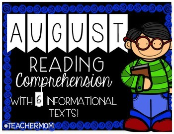 August Primary Informational (Non-Fiction) Text Pack {#Tea