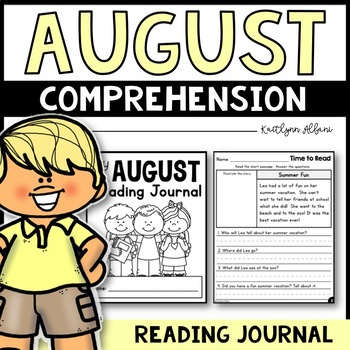 August Reading Comprehension Passages - Journal