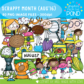 August Scrappy Addicts - 2016