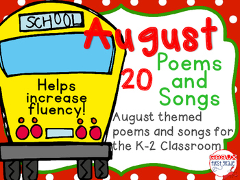 August Poems and Songs *Back to School*