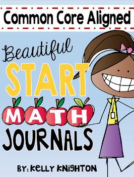 August / September Interactive Math Journal {First Grade}