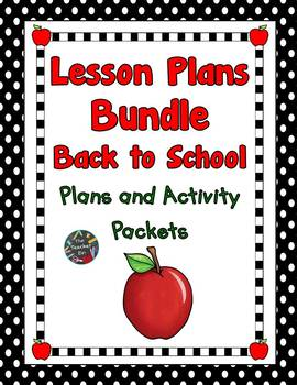 Lesson Plan Bundle First Month of School Plans and Activit