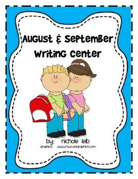 August & September Writing Center - Nichole Leib