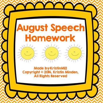 August Speech Homework