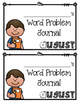 August Word Problems Journal Booklet