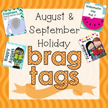 FLASH SALE 50% OFF August and September Holiday Brag Tags
