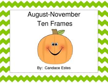 August to November Ten Frames