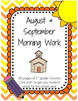 August/September Morning Work - CC Math Skills and Number Sense