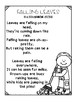 August/September/Back-to-School Fluency Building Poems {Po