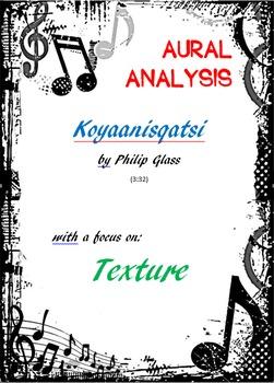 Aural analysis: 'Koyaanisqatsi' by Glass. Focus on TEXTURE